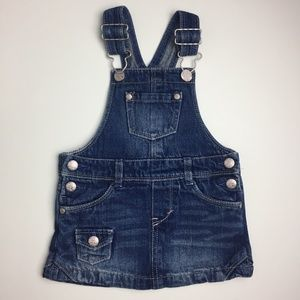 [3/$20] Levi's Baby Denim Skirt Overalls (18m)